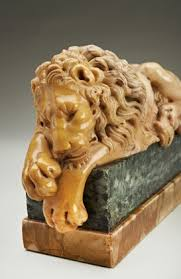 marble lions an exceptional quality pair of grand tour marble lions archive
