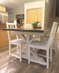Farm Style Dining Room Sets - diy tutorial farmhouse style dining table sms designs llc
