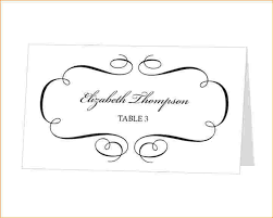 4 wedding place cards template outline templates