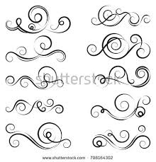 set swirl design ornaments stock vector 80294812 shutterstock