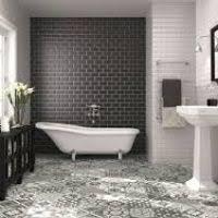 Large White Wall Tiles Bathroom - bathroom black floor white walls thesouvlakihouse com