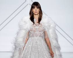 ethereal wedding dress alessandra ambrosio wows in ralph russo couture wedding dress