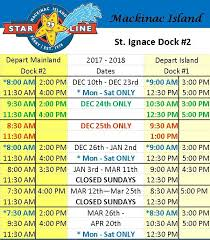 mackinac island ferry schedules line