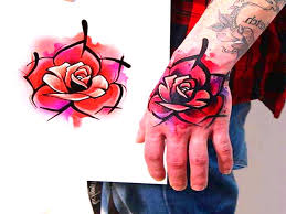 imagenes rosas tatoo los mejores tatuajes en la mano del 2017