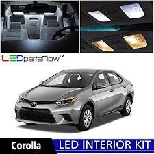 toyota corolla battery light amazon com ledpartsnow 2015 2018 toyota corolla led interior lights