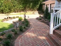 garden brick walkway for garden decor with landscaping design and