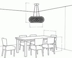 Dining Room Size by Dining Room Chandelier Height Finding The Right Size Chandelier