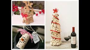 diy wine cork christmas crafts ideas youtube