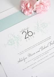elegant damask wedding invitations in mint u2013 wedding invitations