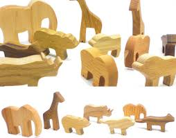 animal wood zoo in a bag wood set happy bungalow