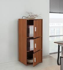 oak finish storage cabinet buy albert 3 tier storage cabinet in oak finish by hometown online