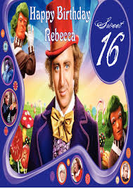 personalised willy wonka u0026 the chocolate factory birthday card