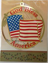 Christian Christmas Window Decorations god bless america usa us united states flag christmas ornament