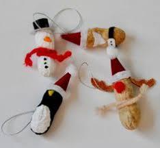 preschool crafts for peanut reindeer ornaments