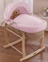 Wicker Crib Bedding Baby Moses Basket Replacement Cover Set Pink Dimple Crib