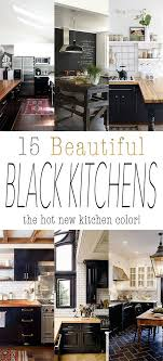 kitchen wall colors with black cabinets 22 beautiful black kitchens that are trending the