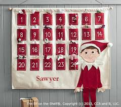 the elf on the shelf advent calendar pottery barn kids