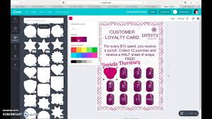 Jamberry Sample Cards Jamberry Customer Loyalty Card Using Canva Youtube