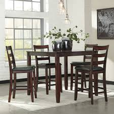 ashley furniture coviar drum counter table set in brown local