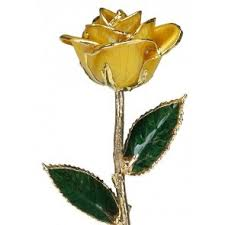 gold roses real yellow gold with vase yellow gold trimmed