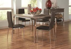 Casual Dining Room Tables by Coaster Eldridge Casual Dining Table With Weathered Table Top And