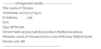 game of thrones pirates being monitored by hbo warnings on the