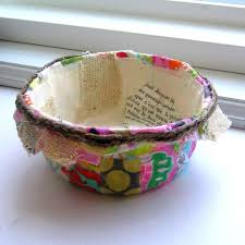 bowl designs paper mache and fabric bowls noelle o designs