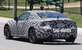 subaru sports car 2016 new subaru sports coupe spy photos show interior nose car and