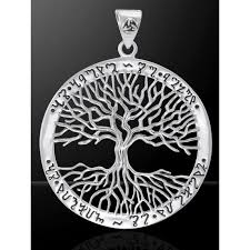 wiccan tree of silver pendant by mickie mueller pagan jewelry