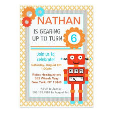 393 best robot birthday party invitations images on pinterest