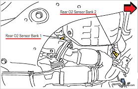 2009 2012 nissan murano air fuel ratio and o2 sensor location
