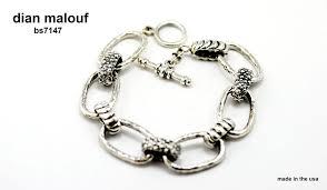 link bracelet silver images Sterling silver oval link bracelet dian malouf jewelry made in jpg