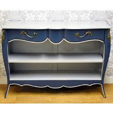 french style shabby chic dark blue painted mahogany wooden