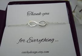 geschenk brautjungfer infinity armband danke armband brautjungfer