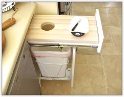 Kitchen Cabinet Trash Can In Cabinet Garbage In Cabinet Trash Can Walmart Kitchen Plastic