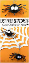 Halloween Spider Craft Ideas by Paper Spider Craft How To Make A 3d Spider Out Of Paper Red