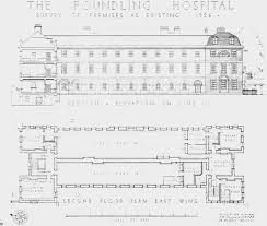 plate 16 foundling hospital east wing plan and elevation