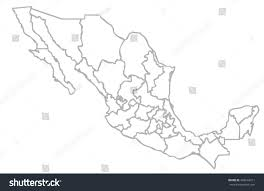 Mexico Political Map by Isolated Political Mexican Map Mexico State Stock Illustration