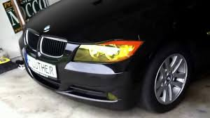bmw e90 headlights bmw yellow headlight tint youtube