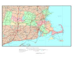 New York Map With Cities by Maps Of Massachusetts State Collection Of Detailed Maps Of