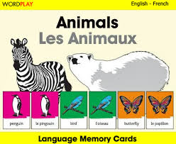 language memory cards animals linguist