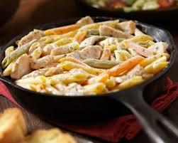 légumes faciles à cuisiner recette poêlée de penne au poulet et aux petits légumes