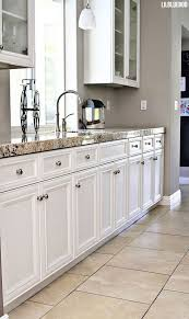 White Kitchen Tile Floor Kitchen Kitchen Granite Countertops Flooring White Tile Floor