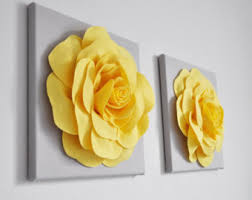 Grey And Yellow Home Decor Yellow Home Decor Etsy