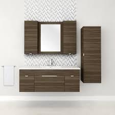 48 u2033 2 door 1 drawer floating vanity with linen cabinet in