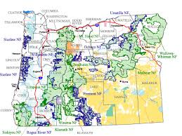 map of oregon mountains buy and find oregon maps forest service statewide index