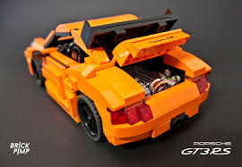 porsche gt3 rs orange lego porsche 911 carrera gt3 rs orange custom car flickr