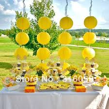 yellow baby shower decorations 8 100pcs yellow color party solid paper lantern wedding