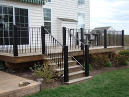 deck stair railing style how to build deck stair railing