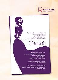 printable bridal shower invitations bridal shower invitation wedding invitation